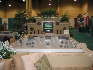 Fireside Chat Spa System with CTS-8 at Dealer Show