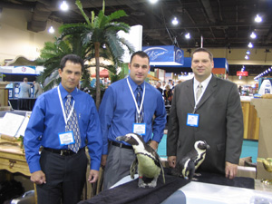 Regional Sales Managers and Penguins at Trade Show