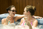 Two women in spa